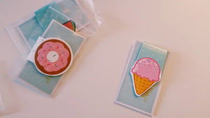 Donut or Ice cream Magnetic Bookmark