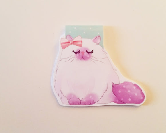 galaxy cat magnetic bookmark
