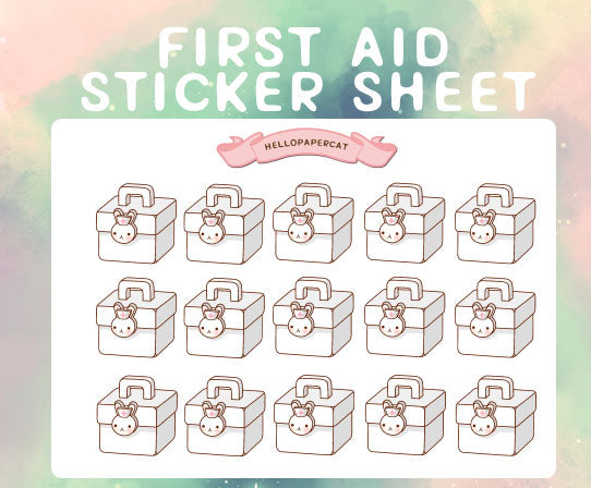 First Aid Kit sticker sheet