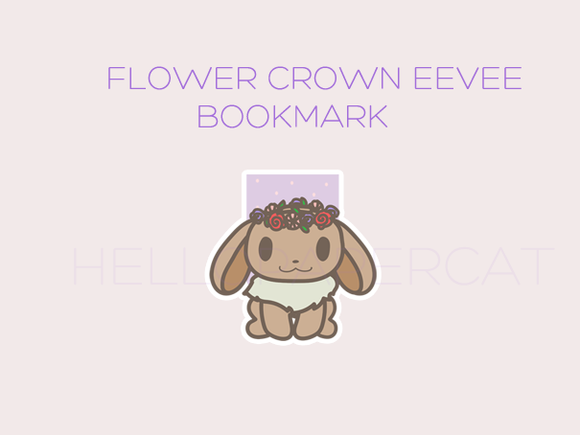 Flower Crown cutie magnetic bookmark
