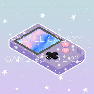 Pastel galaxy game boy die cut