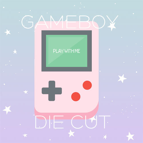 Pink Gameboy  die cut