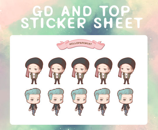 GD and TOP sticker sheet