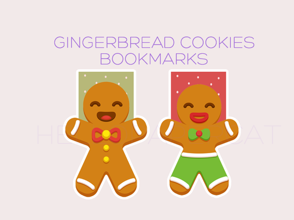 Gingerbread Cookies magnetic bookmark