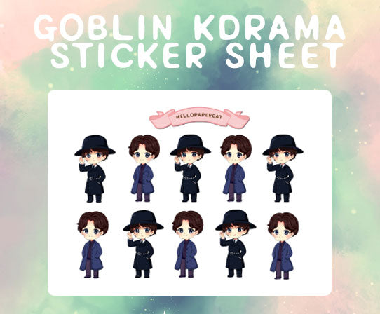 Goblin Kdrama sticker sheet