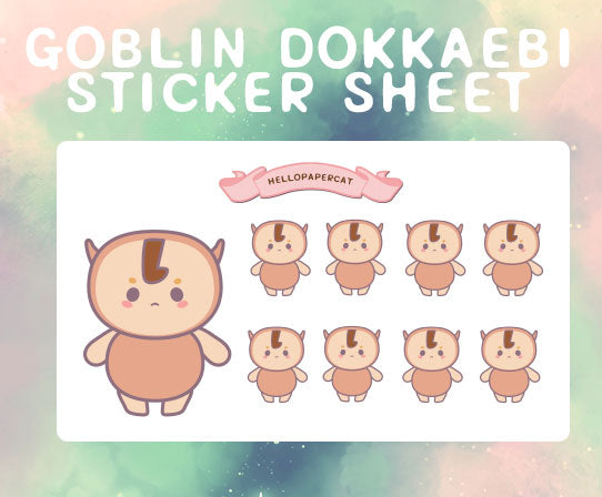 Goblin Dokkaebi sticker sheet