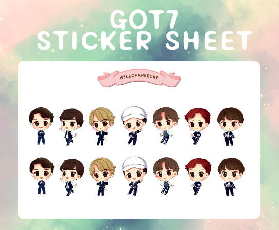 GOT7 sticker sheet