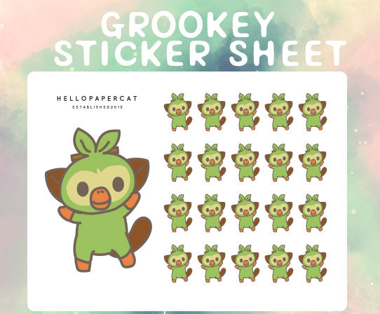 Grookey sticker sheet