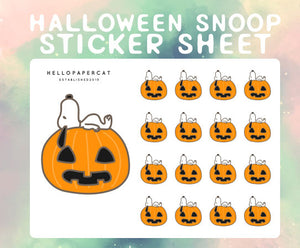 Halloween Snoop sticker sheet