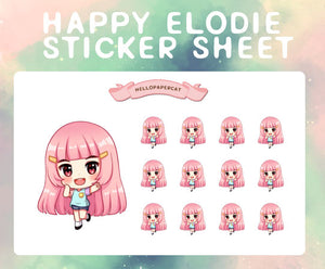 Happy Elodie sticker sheet