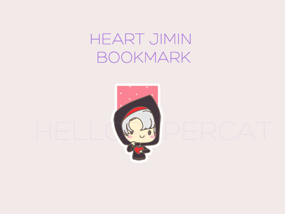 heart jimin magnetic bookmark
