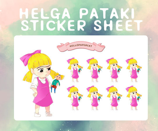 Helga Pataki sticker sheet