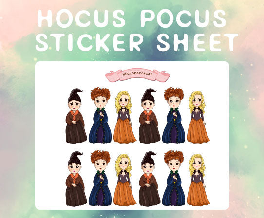 Hocus Pocus sticker sheet
