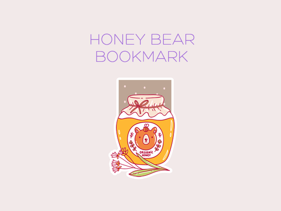 Honey Bear magnetic bookmark