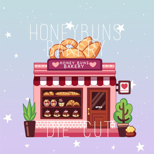 Honey Buns Bakery die cut