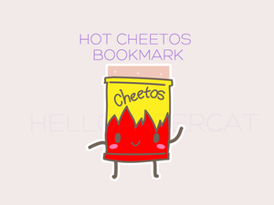 Hot Cheetos magnetic bookmark