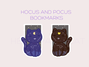 Hocus and Pocus Magical Astro Kitties magnetic bookmark