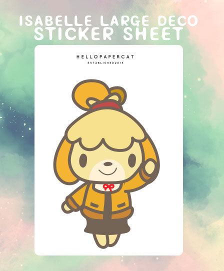 Isabelle Large Deco sticker sheet