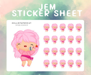 Jem inspired sticker sheet