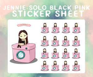 Jennie SOLO [blackpink] sticker sheet