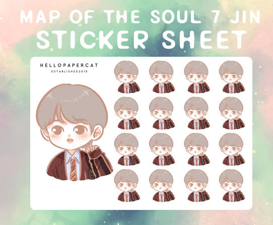 BTS map of the soul 7 Jin sticker sheet