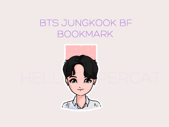 Boyfriend style BTS Jungkook magnetic bookmark
