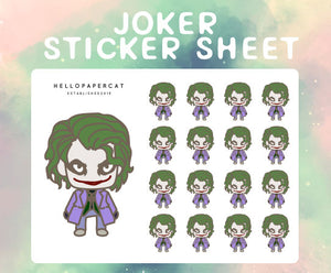 Joker sticker sheet