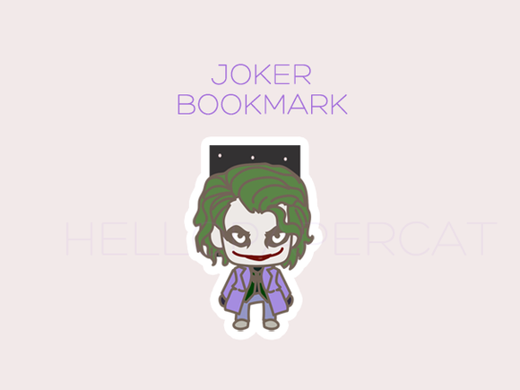 Joker magnetic bookmark
