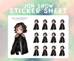 Jon Snow sticker sheet