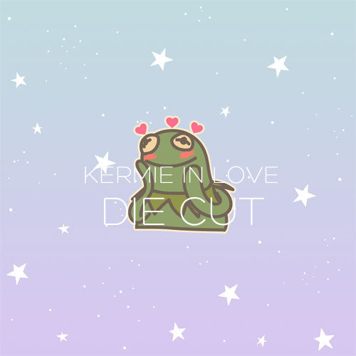 Kermie in love die cut