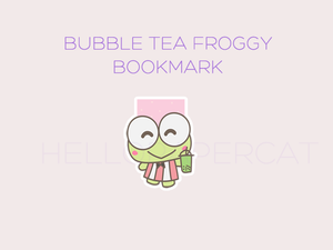 bubble tea froggy magnetic bookmark