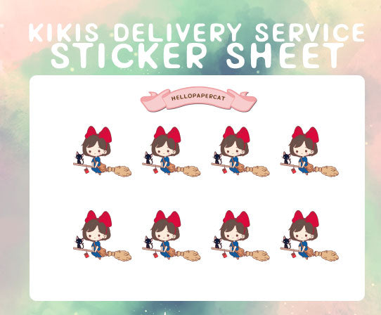 Kiki sticker sheet