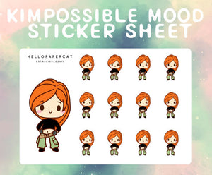 Kimpossible Mood sticker sheet