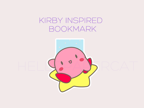 Kirby Inspired magnetic bookmark