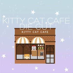 Kitty cat cafe die cut