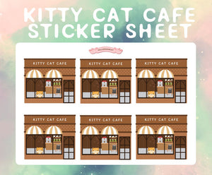 Kitty Cat Cafe sticker sheet