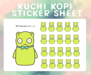 Kuchi Kopi inspired sticker sheet