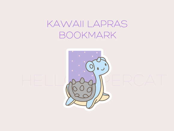 Kawaii Lapras magnetic bookmark