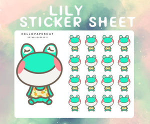 lily sticker sheet