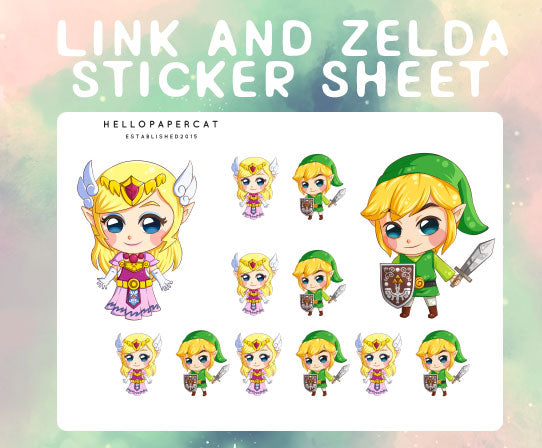 L and Z inspired sticker sheet