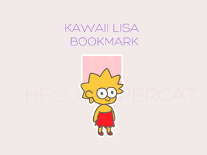 Kawaii Lisa magnetic bookmark