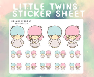 Little Twins sticker sheet
