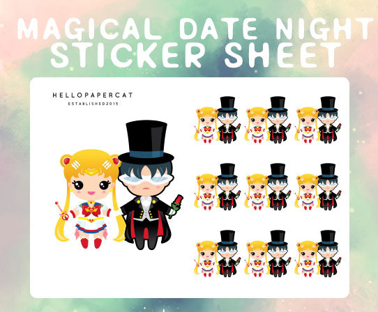 Magical date night sticker sheet
