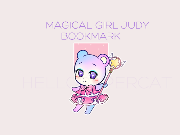 Magical girl Judy magnetic bookmark