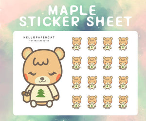 Maple sticker sheet