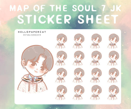 BTS map of the soul 7 Jungkook sticker sheet