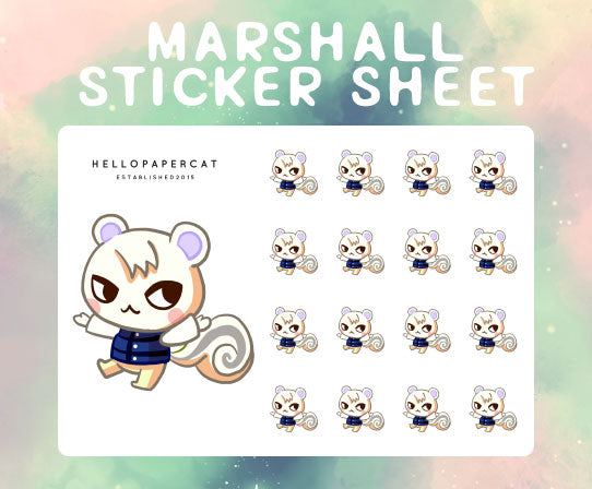 Marshall sticker sheet