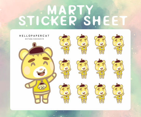Marty sticker sheet