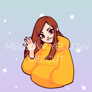 Mellow Yellow girl die cut