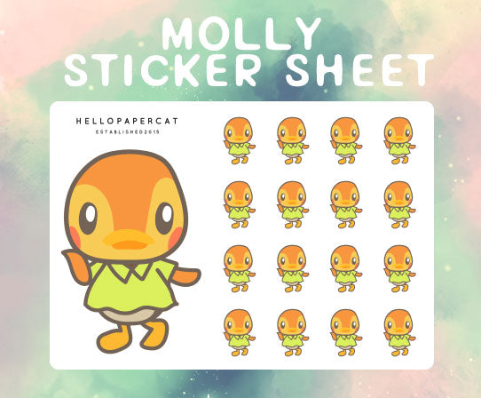Molly sticker sheet